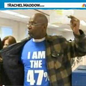 The first early voter in the crucial swing state of Ohio was sportin' the 47.