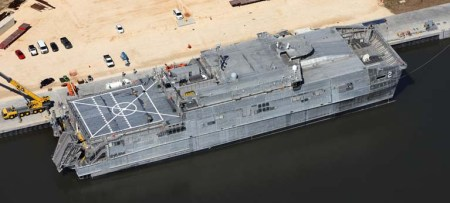 JHSV 2 at Vessel Completion Yard - 0613 web news